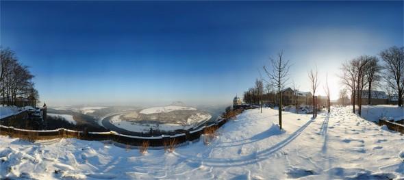 Festung Königstein Winter